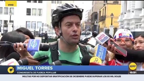 Miguel Torres, congresista de Fuerza Popular.