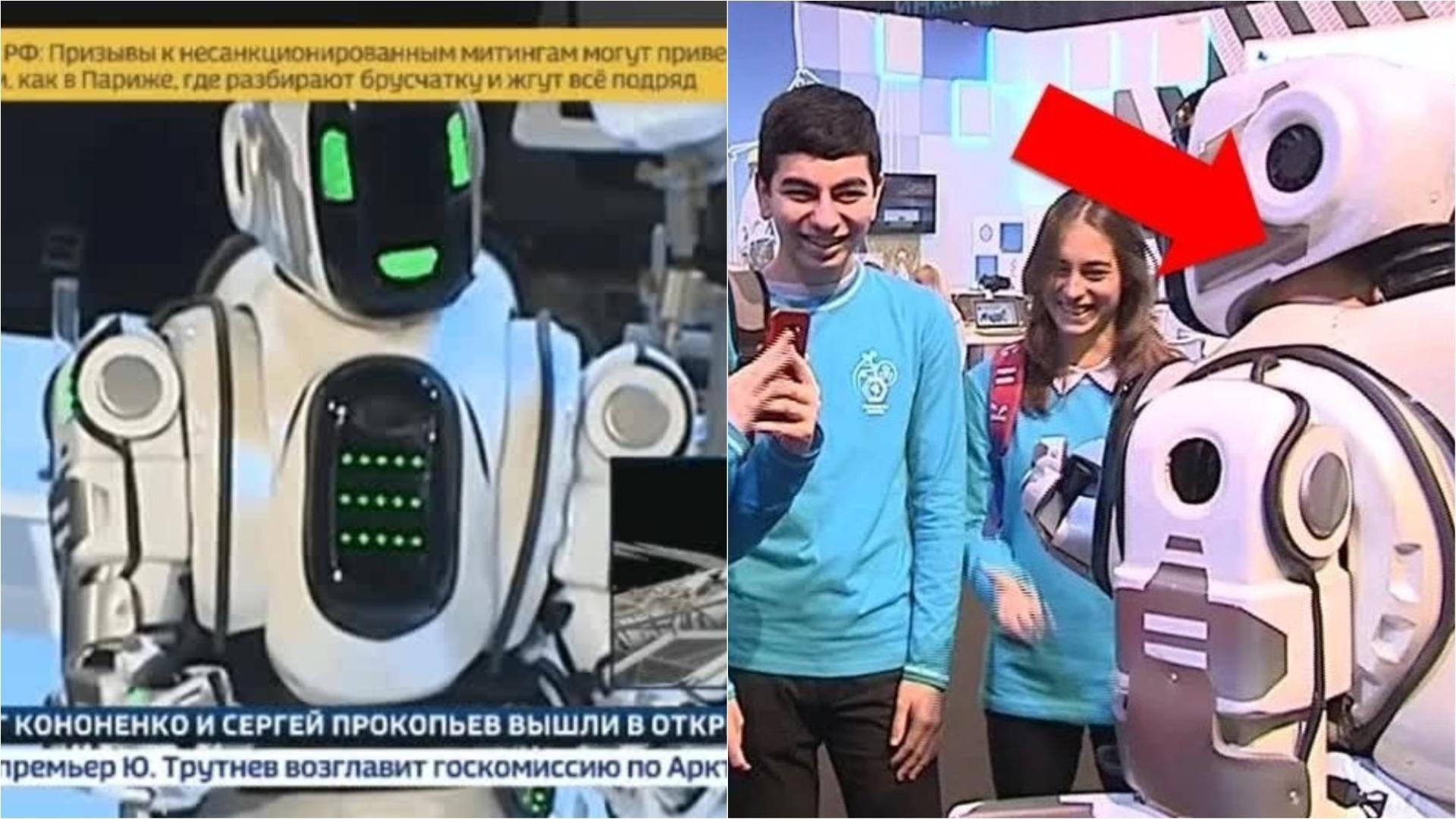 El baile del robot engañó a algunos de los presentadores de Russia-24.