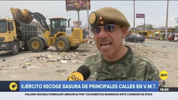 Ejército colaboró con el recojo de basura.
