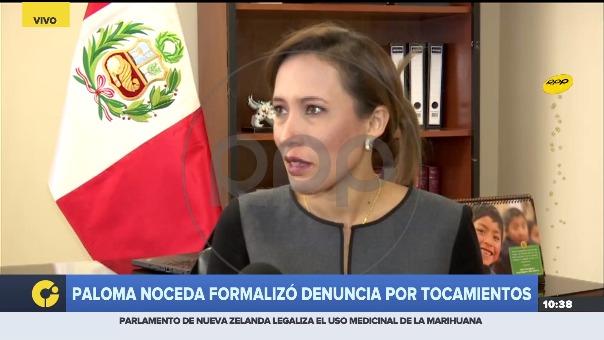 Paloma Noceda formalizó denuncia por tocamientos,