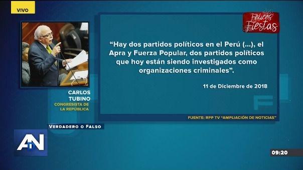 Lo que dijo Carlos Tubino