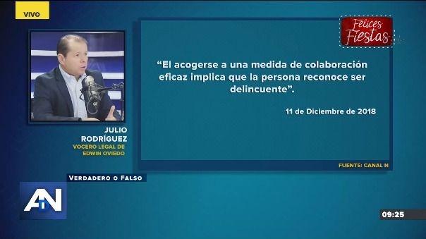 Esto dijo el vocero legal de Edwin Oviedo