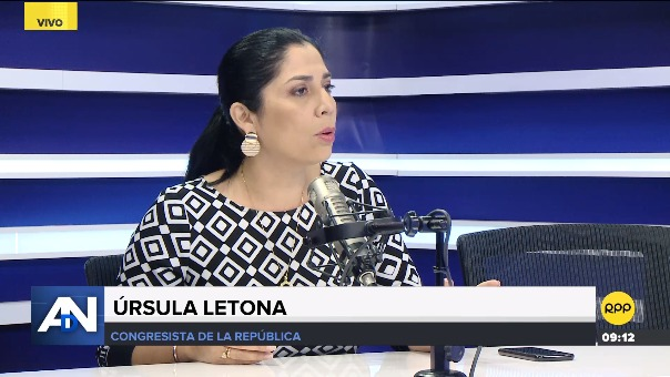 Úrsula Letona, congresista no agrupada, en RPP Noticias.