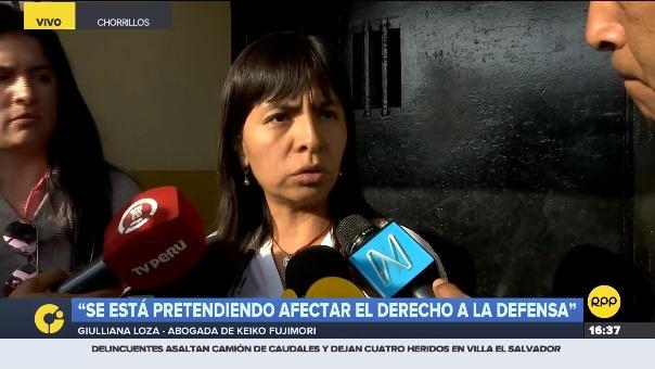 Giulliana Loza se pronunció luego de visitar a Keiko Fujimori en prisión.