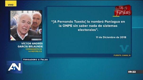 Esto dijo Víctor Andrés García Belaúnde