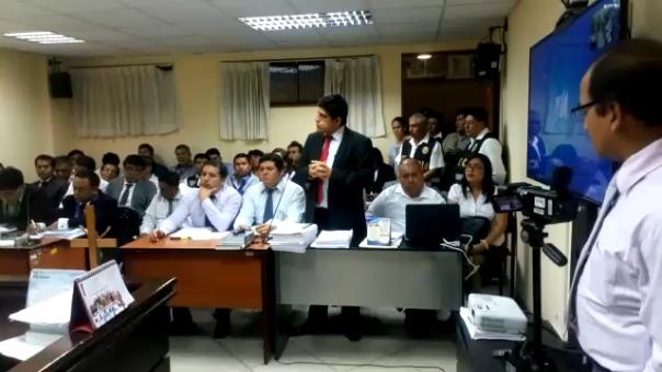 En audiencia sustentando pedido de prisión preventiva para los 'Temerarios del Crimen'.