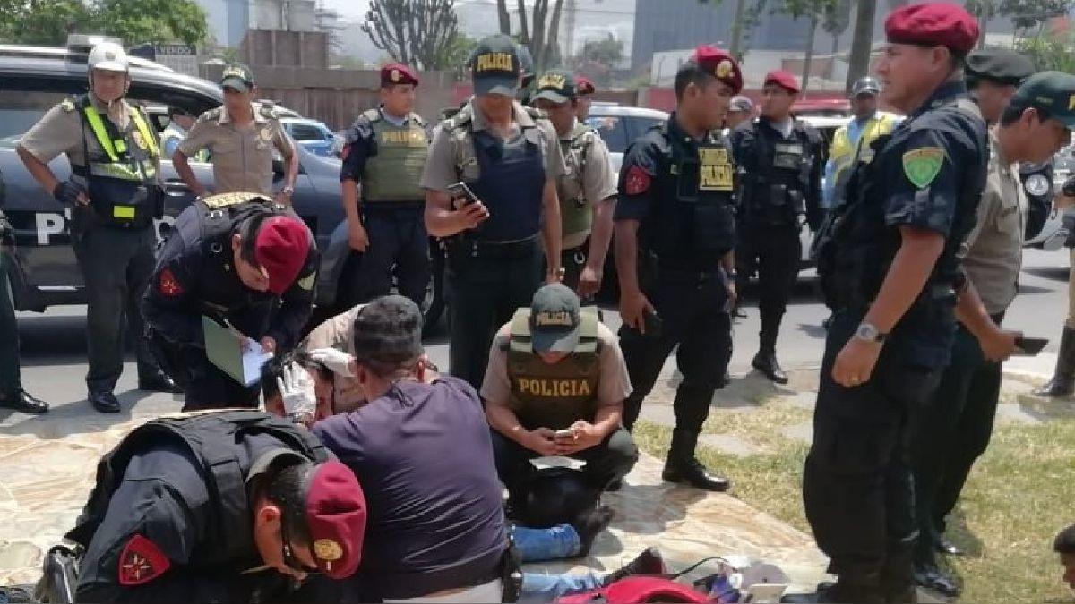 Los delincuentes fueron interceptados por las autoridades tras una persecución.