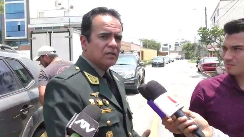 El general PNP Gastón Rodríguez, jefe de la Región Policial Lima, dio detalles de la detención.