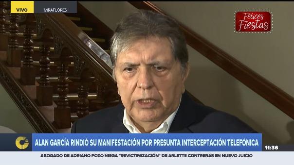 Alan García se dirigió al presidente Vizcarra tras el referéndum.
