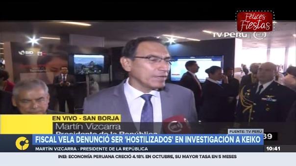 Vizcarra declara a la prensa sobre denuncia del fiscal Vela sobre hostigamientos en el Ministerio Público,