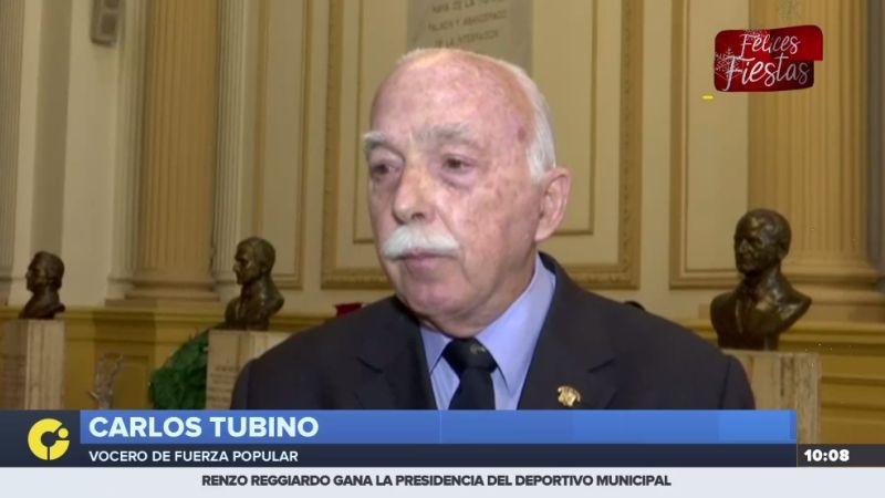 Carlos Tubino declaró para RPP Noticias en la sede del Congreso.