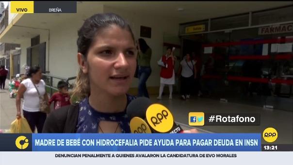 Nelly Castellanos internó a su hija luego que sufriera hidrocefalia, debido a la deuda que tiene en el hospital del Niño, pidió apoyo para poder cubrirla.