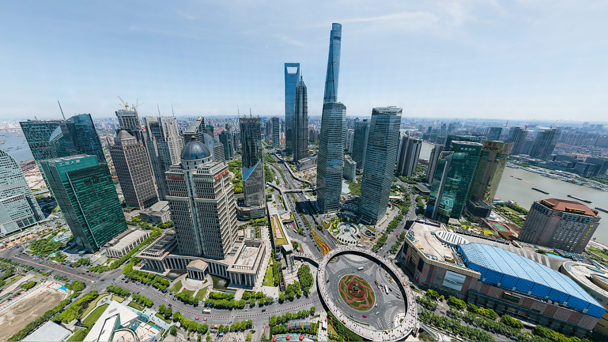 Esta es la vista panorámica del barrio financiero de Shang-hai a 195 gigapixeles