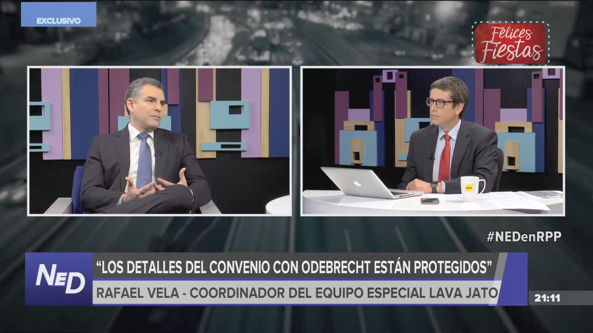 El fiscal Vela comentó que solo pueden informar datos generales sobre el acuerdo al que llegaron con Odebrecht.