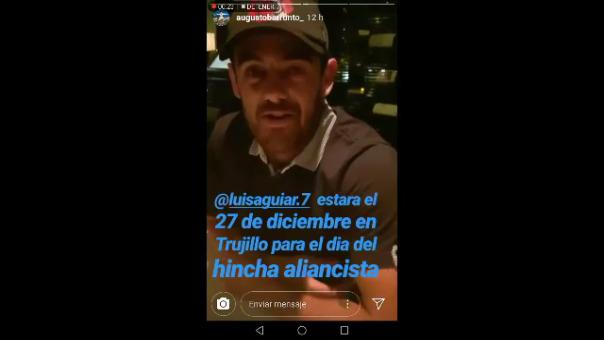 Luis Aguiar saludó a los hinchas de Alianza Lima.
