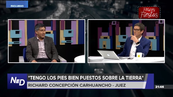 El Juez Richard Concepción Carhuancho estuvo en el programa Nada está Dicho de RPP.