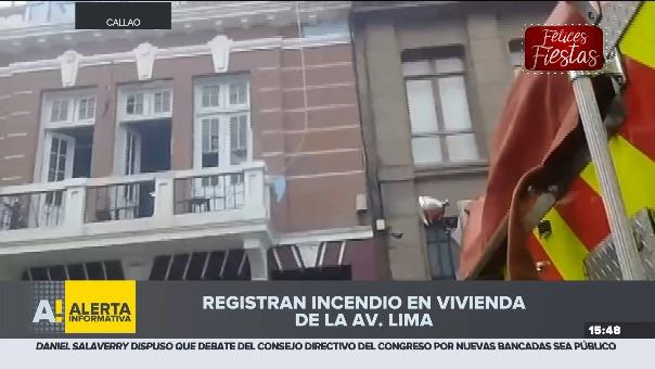 Se registra un incendio en vivienda en La Perla.