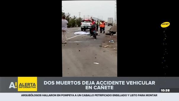 Dos muertos deja accidente vehicular en Cañete