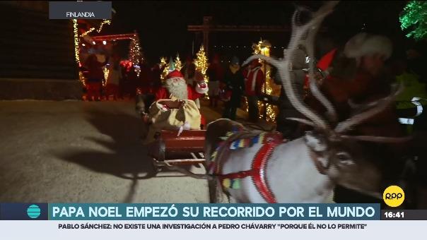 Papá Noel empezó su recorrido por el mundo.