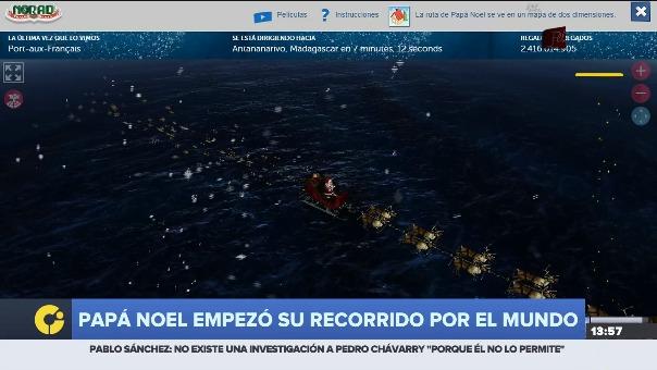 El recorrido de Papá Noel es monitoreado por el Ejército de Estados Unidos.
