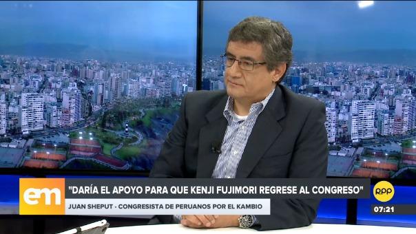 Juan Sheput se pronunció sobre el caso Kenji Fujimori.