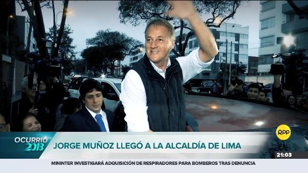 Jorge Muñoz se convirtió en el nuevo alcalde de Lima