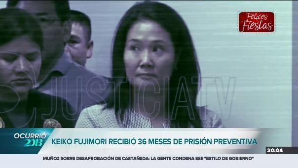 Keiko Fujimori recibió 36 meses de prisión preventiva.