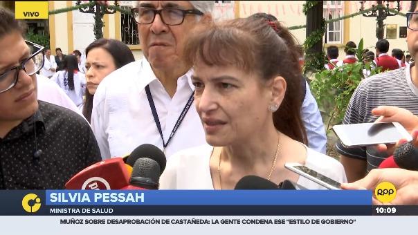 Silvia Pessah, ministra de Salud.