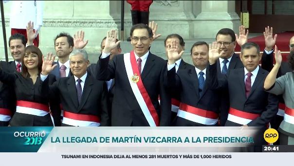 La llegada de Martín Vizcarra a la Presidencia.