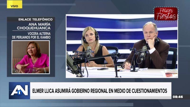 Ana María Choquehuanca estuvo esta mañana en Ampliación de Noticias.