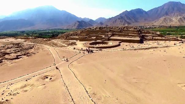 Zona arqueológica de Caral.