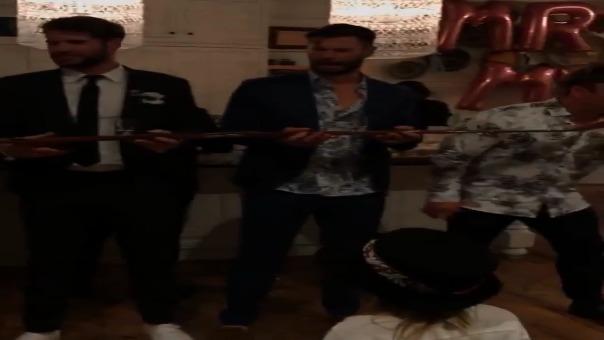Chris Hemsworth y los otros hermanos de Liam asistieron a la boda.