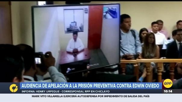 Audiencia de apelación a la prisión preventiva contra Edwin Oviedo.