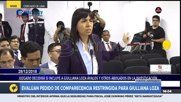 Giulliana Loza dijo que la tesis del fiscal Pérez Gómez no está citada correctamente.