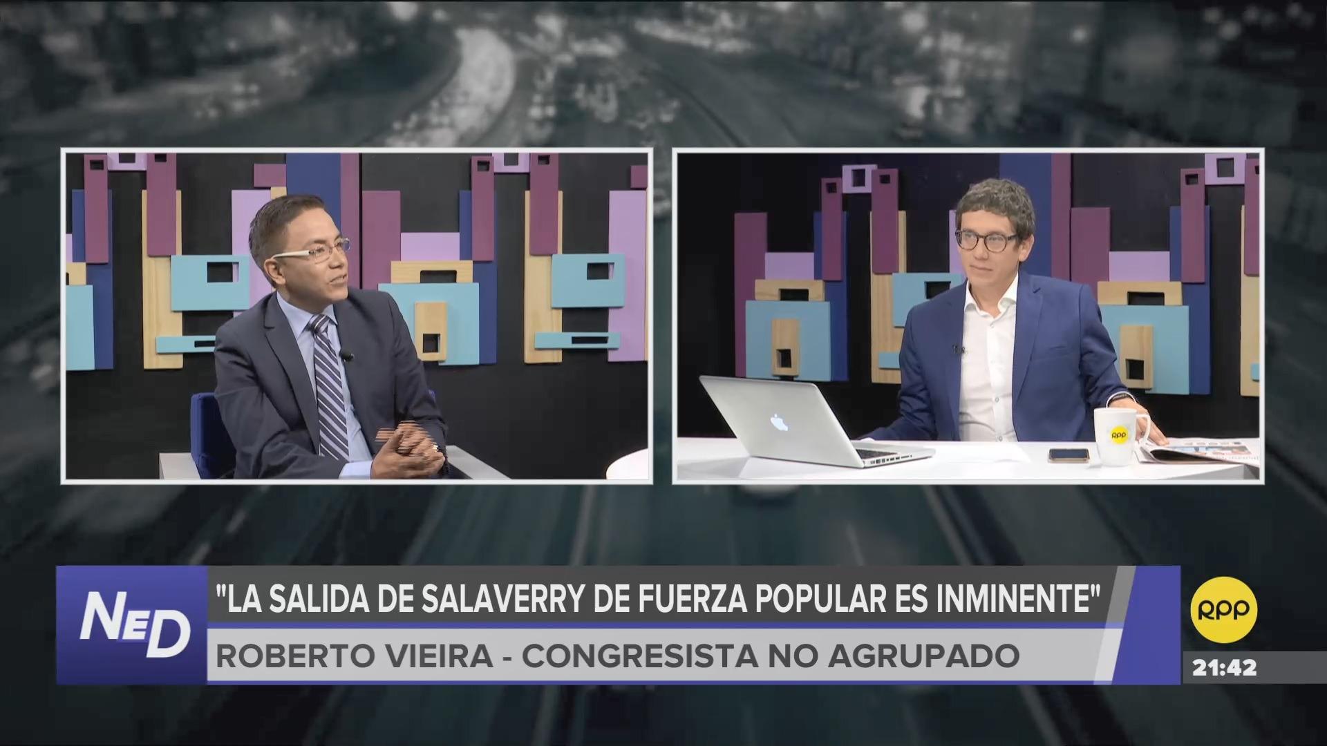 El parlamentario no agrupado comentó que Salaverry no fue valorado en Fuerza Popular.