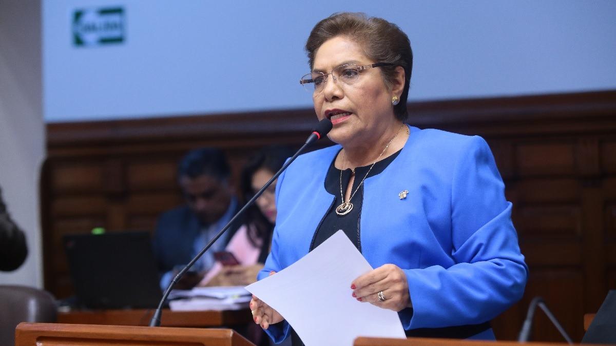 Luz Salgado, congresista de Fuerza Popular.