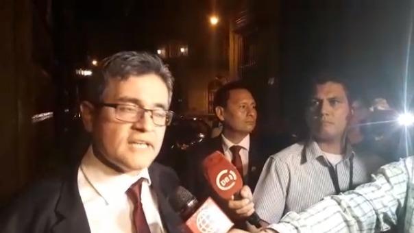 Fiscal se hizo presente en la sede del Ministerio Público, según indicó, para proteger la información sobre las investigaciones que afrontaba.