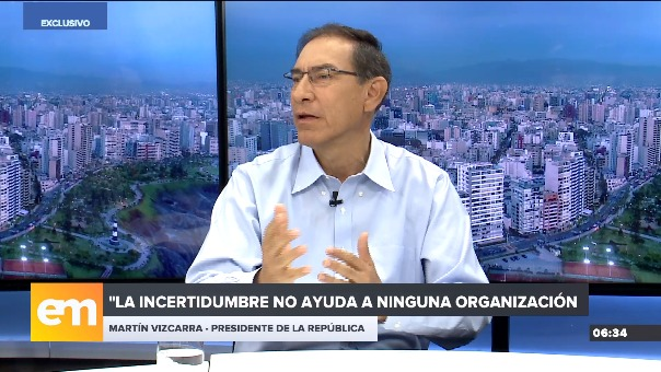 Martín Vizcarra comentó sobre la situación en el Ministerio Públcio