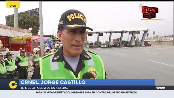 Jefe de la Policía de Carreteras brinda detalles de las medidas para evitar la congestión vehicular en la Panamericana Sur.