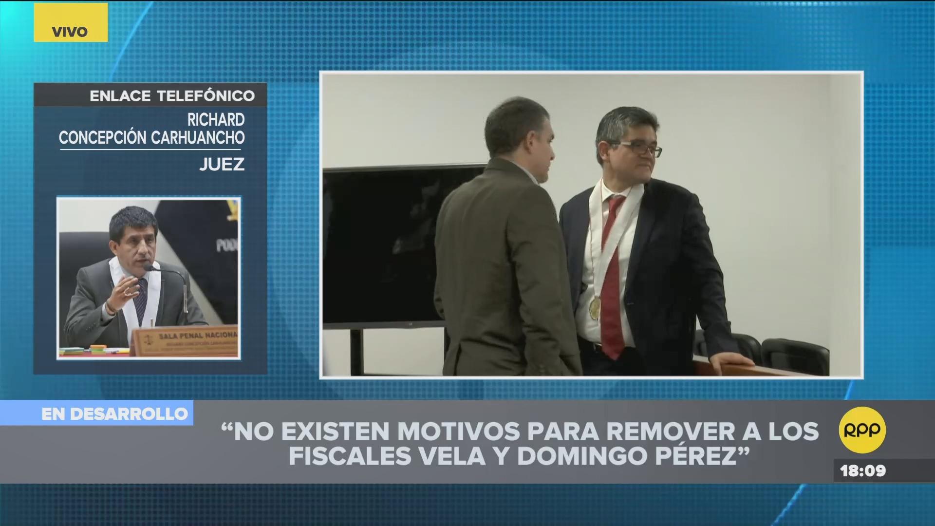El juez consideró que la decisión de Chávarry para sacar a los fiscales no tiene sustento.