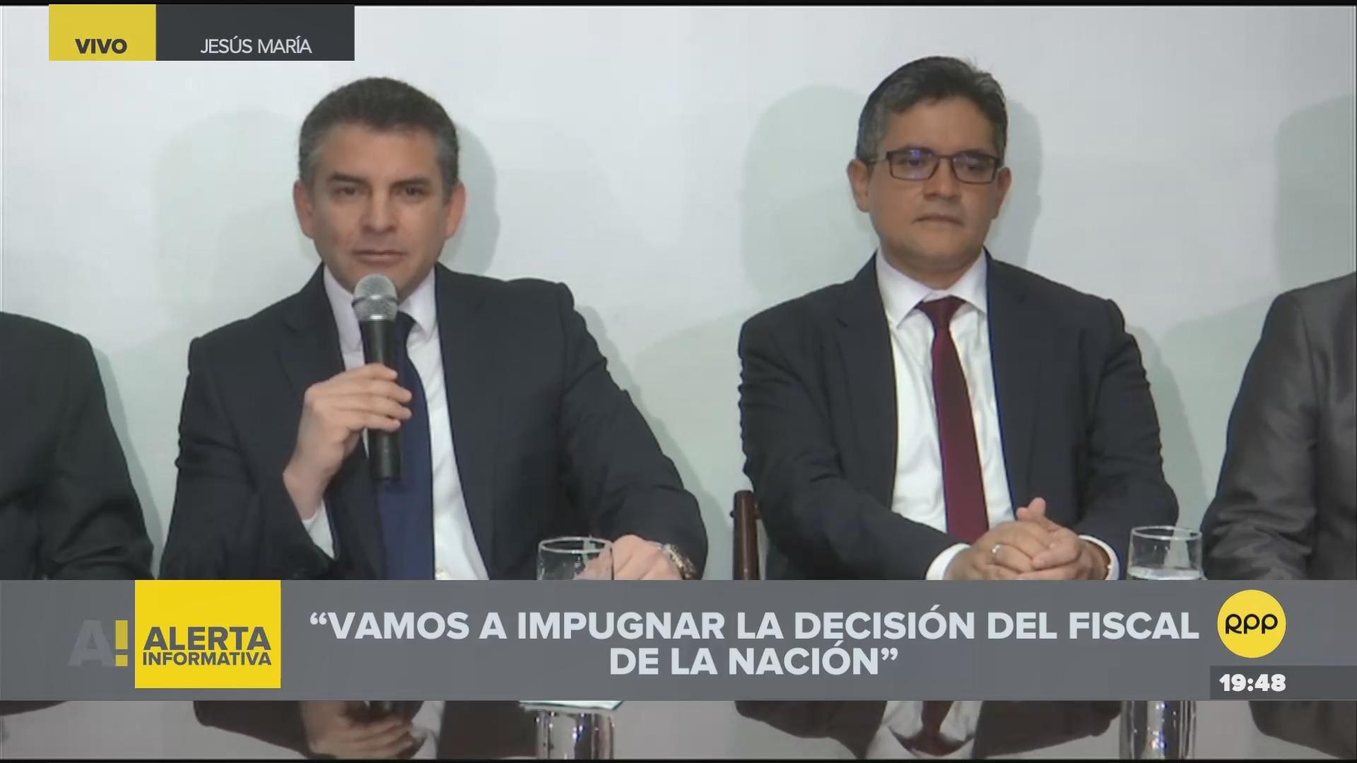 Rafael Vela dijo que Chávarry no puede participar de la Junta de Fiscales Supremos que verá la reconsideración.