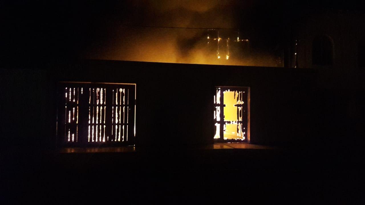 Incendio en vivienda de Pimentel