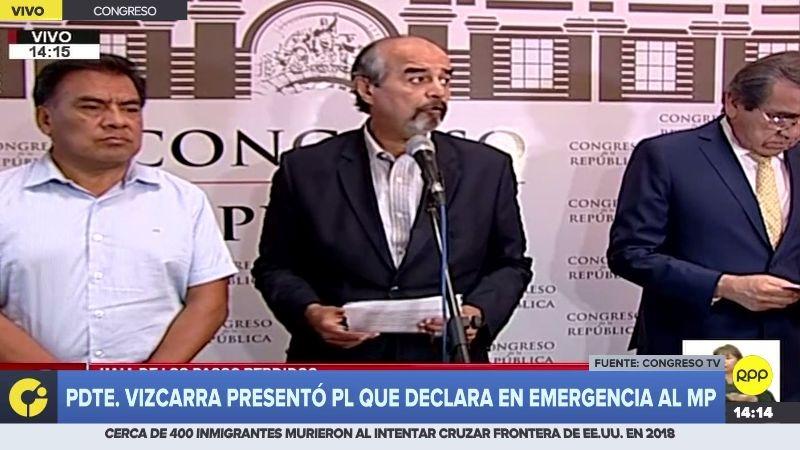"""La bancada aprista consideró """"insostenible"""" la situación de Pedro Chávarry en el Ministerio Público."""