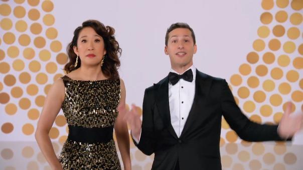 Andy Samberg y Sandra Oh será la dupla que animará los Globos de Oro 2019.