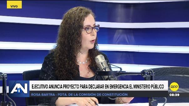 Rosa Bartra, presidente de la Comisión de Constitución.