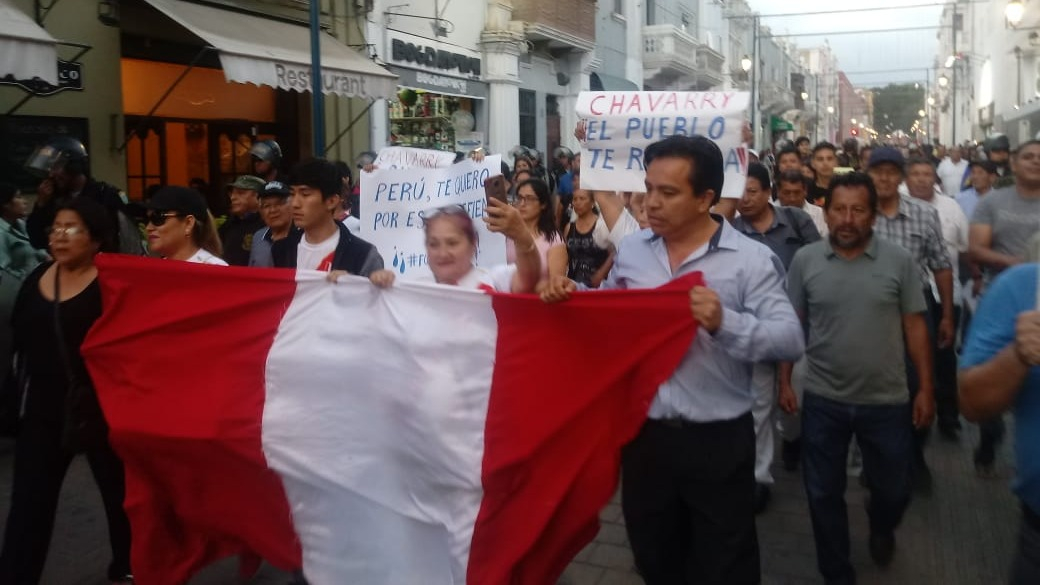 Trujillanos marcharon por el centro de la ciudad.