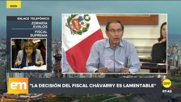 Fiscal Zoraida Ávalos en Edición Mañana