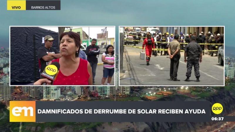 RPP Noticias llegó a la zona donde los damnificados se han reunido.
