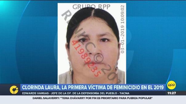 La primera víctima de feminicidio es de Tacna