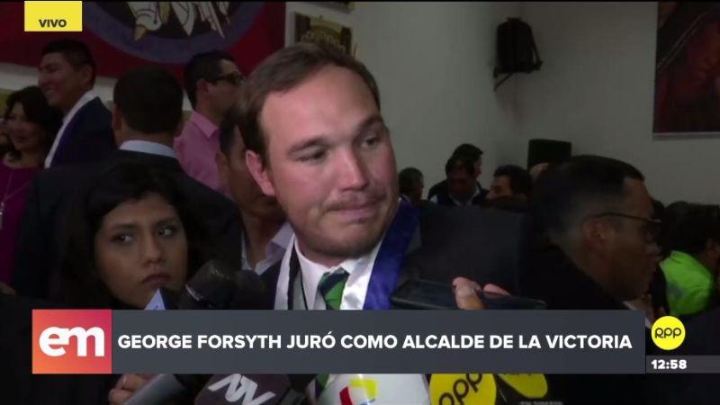 """George Forsyth dijo que la gestión de Elías Cuba fue """"la más nefasta"""" y que ha dejado """"destrozada"""" la Municipalidad de La Victoria."""
